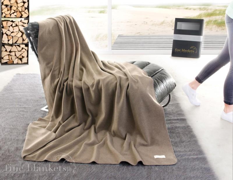 Decke Cashana umkettelt 100% Cashmere in umber - 4 Größen