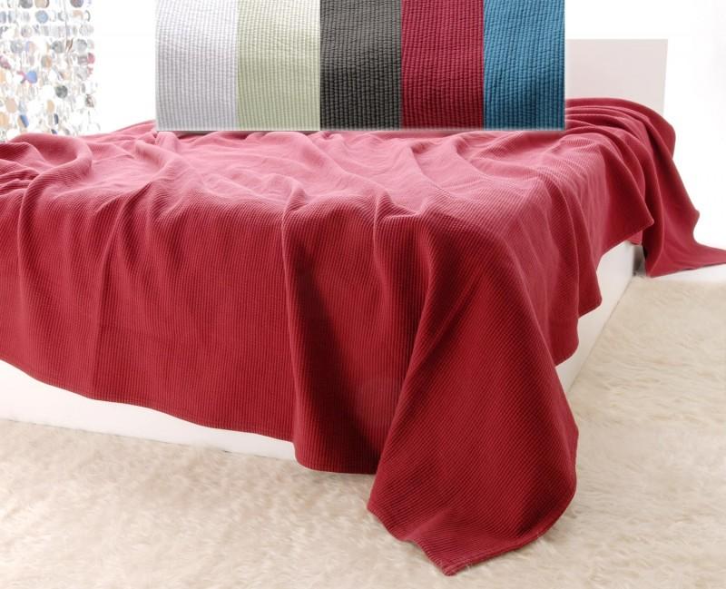 Tagesdecke mit Streifenmuster in burgunderrot - 5 Größen