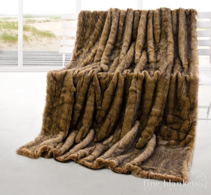 Webpelzdecke Mink Braun 260x300cm