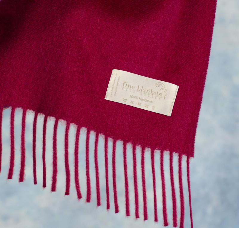 Decke Versailles 100% Cashmere in bordeaux mit Wasserglanz - 2 Größen
