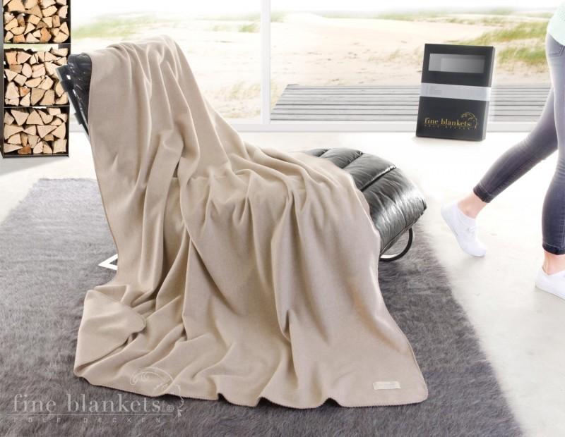 Decke Cashana umkettelt 100% Cashmere in creme - 4 Größen